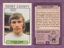 Derby County Colin Todd England 10